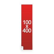 banderole publicitaire 100x400 cm