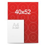 Stickers pour cd 40x52 cm
