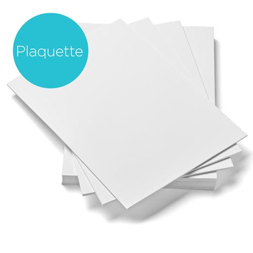 Papier pour plaquette